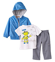 Kids Headquarters® Baby Boys' Blue 3-pc. Robot Jacket Set