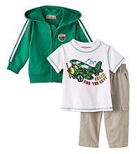Kids Headquarters® Baby Boys' Green 3-pc. Airplane Hoodie Set