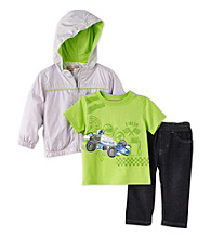 Kids Headquarters® Baby Boys' Grey 3-pc. Race Car Jacket Set