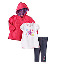 Kids Headquarters® Baby Girls' Pink 3-pc. Star Tee and Jacket Set