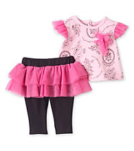 Vitamins Baby® Baby Girls' Pink 2-pc. Floral Tutu Skegging Set