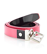 Calvin Klein Bright Patent Reversible Belt