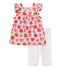 Carter's® Girls' 2T-4T Pink/White 2-pc. Strawberry Print Leggings Set