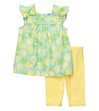 Carter's® Girls' 2T-4T Yellow/Green 2-pc. Lemon Print Leggings Set