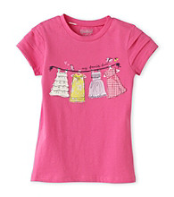 OshKosh B'Gosh® Girls' 4-6X Pink Short Sleeve Clothesline Tee