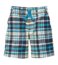 Carter's® Boys' 2T-7 Blue Plaid Pull On Shorts