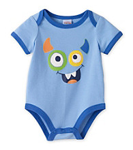 Cuddle Bear® Baby Boys' Blue Monster Face Bodysuit