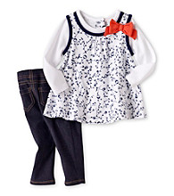 Cuddle Bear® Baby Girls' Navy 2-pc. Tunic and Jeggings Set