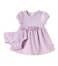 Cuddle Bear® Baby Girls' Violet 2-pc. 3D Flower Dress and Diaper Cover Set