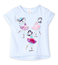 Little Miss Attitude Girls' 2T-6X Purple Ballerina Tee