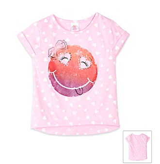 Little Miss Attitude Girls' 2T-6X Pink Smiley Tee