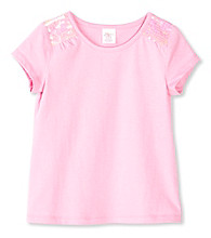 Little Miss Attitude Girls' 2T-6X Sequin Shoulder Tee