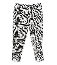 Miss Attitude Girls' 7-16 Zebra Print Knit Leggings
