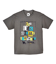 Mambo® Boys' 8-20 Charcoal Short Sleeve Homework Dog Graphic Tee