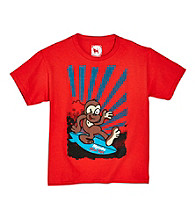 Mambo® Boys' 8-20 Red Short Sleeve Surf Monkey Graphic Tee