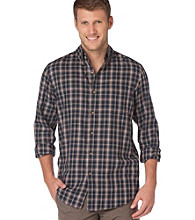 Chaps® Men's Big & Tall Night Sky Dry Goods Plaid Twill Buttondown Shirt