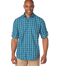 Chaps® Men's Big & Tall Enamel Glacier Point Plaid Performance Buttondown Shirt