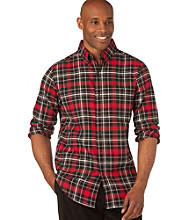 Chaps® Men's Big & Tall Black Still Water Plaid Woven