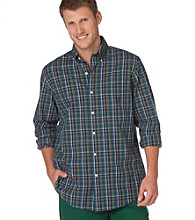 Chaps® Men's Big & Tall Huntington Plaid Buttondown Shirt