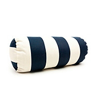 Majestic Home Goods Vertical Strip Round Bolster Pillow