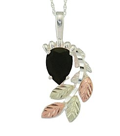 Black Hills Gold Sterling Silver Onyx Pendant