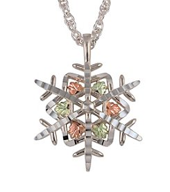 Black Hills Gold Sterling Silver Snowflake Pendant