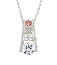 Black Hills Gold Sterling Silver Cubic Zirconia Pendant