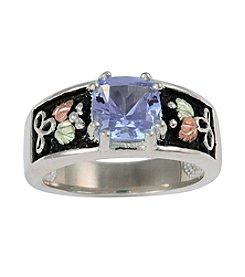 Black Hills Gold Sterling Silver Indigo Helenite Ring