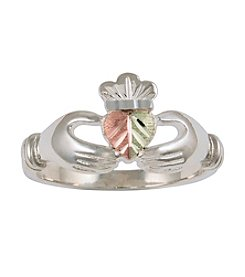 Black Hills Gold Sterling Silver Claddagh Ring