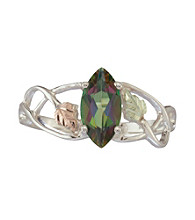 Black Hills Gold Sterling Silver Mystic Fire Topaz Ring