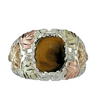 Black Hills Gold Sterling Silver Tiger Eye Ring