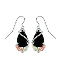 Black Hills Gold Sterling Silver Onyx Earrings