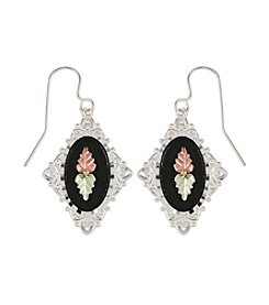 Black Hills Gold Sterling Silver Antiqued Earrings