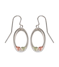 Black Hills Gold Sterling Silver Open Oval Earrings