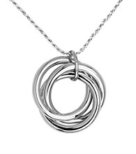 Rhodium Sterling Silver Rope Chain Necklace