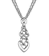 Rhodium Sterling Silver Necklace