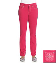 Nine West Vintage Jeans Isis Berry Embellished Straight Leg Jean