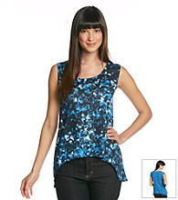 DKNY JEANS Broken Glass Print Asymmetrical Top