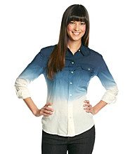 Lucky Brand® Brooke Dip-Dye Buttondown Shirt