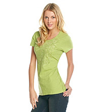 Ruff Hewn Short Sleeve Slub Jersey Screen Tee with Side Braid