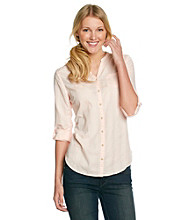 Ruff Hewn Long Sleeve Buttondown Band-Collar Shirt
