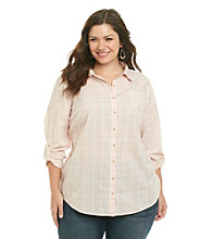 Ruff Hewn Plus Size Long Sleeve Button-down Collared Shirt