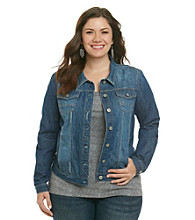 Ruff Hewn Plus Size Long Sleeve Denim Jacket