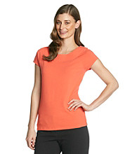 Laura Ashley Cap Sleeve Ballet Neck Tee