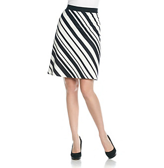 Evan-Picone® Short Striped Skirt