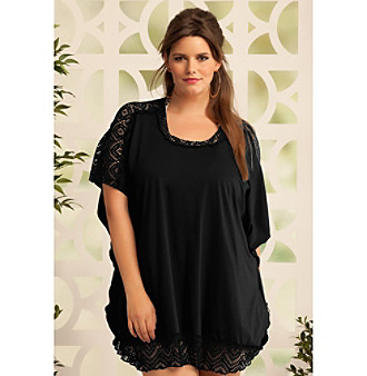 "Becca® Etc Plus Size ""Sanctuary"" Tunic Coverup Top"