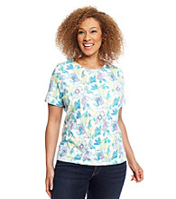 Studio Works Plus Size Short Sleeve Printed Tee