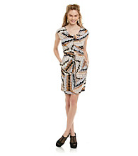 Jessica Simpson Drapeneck Dress with Pockets