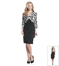 MSK® Side Ruched Dress with Matching Jacket