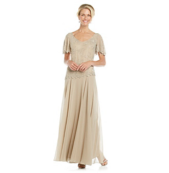 J Kara® Beaded Top Gown